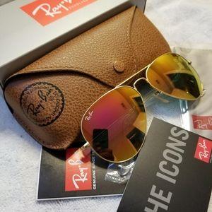 Ray Ban Aviator Sunglasses Pink 112/4T  😍😥
